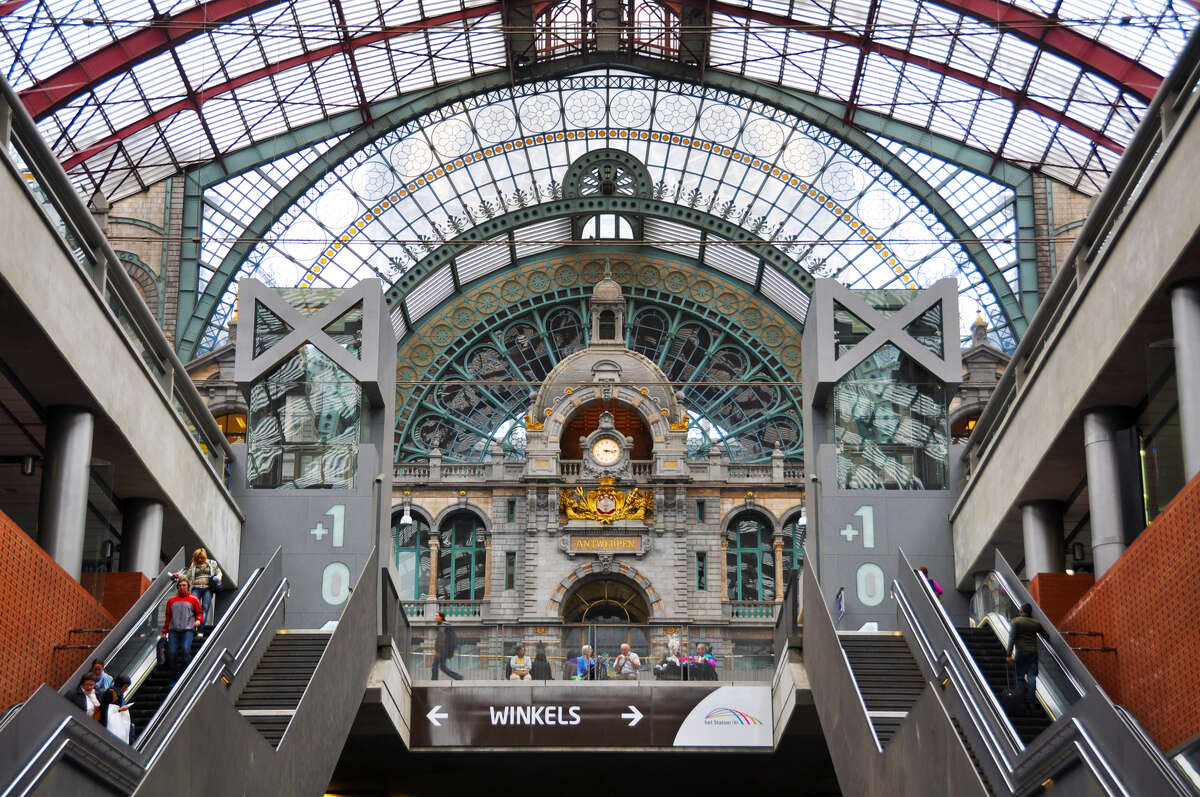 As soon as you step off the train in Antwerp, you're in a major attraction - its Industrial Age train station.