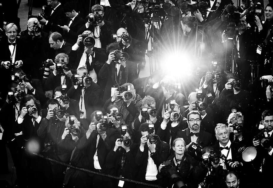 Paparazzi aplenty:What the celebrities see when they arrive for a film premiere   at Cannes. Photo: Gareth Cattermole, Getty Images