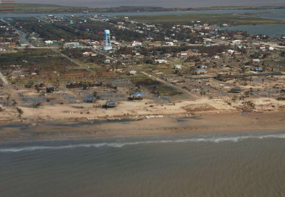 Hurricane Ike hit in 2008. Photo: USGS, United States Geological Survey