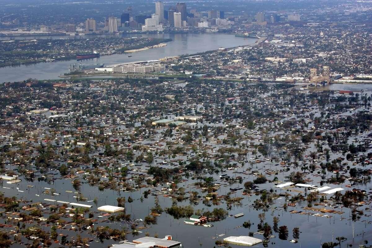 Hurricane Katrina hit in 2005.