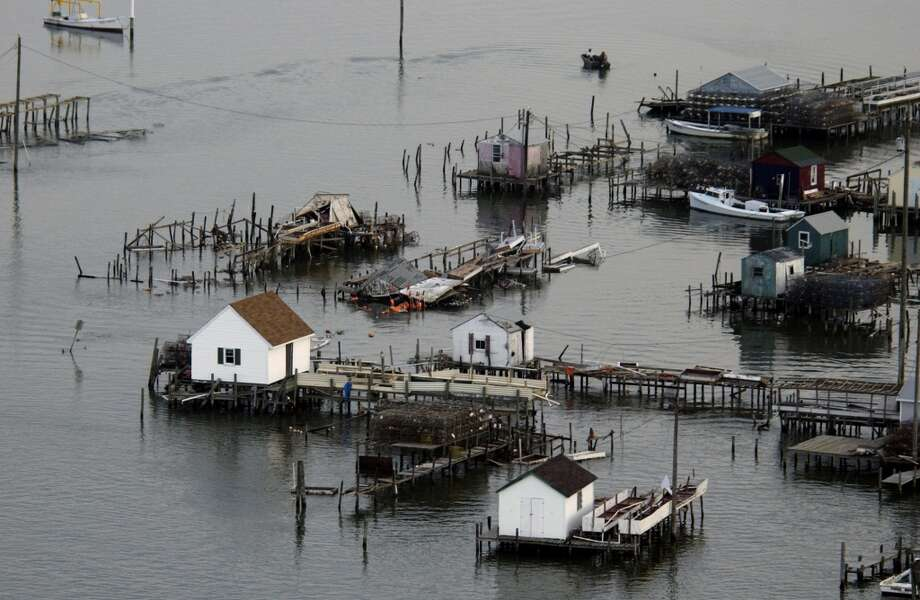 Hurricane Isabel hit in 2003. Photo: STEVE HELBER, AP