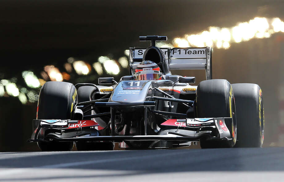 Sauber driver Nico Hulkenburg, of Germany, steers his car during the first free practice session at the Monaco racetrack, in Monaco, Thursday, May 23, 2013. The formula one race will be held on Sunday. Photo: Antonio Calanni, ASSOCIATED PRESS / AP2013