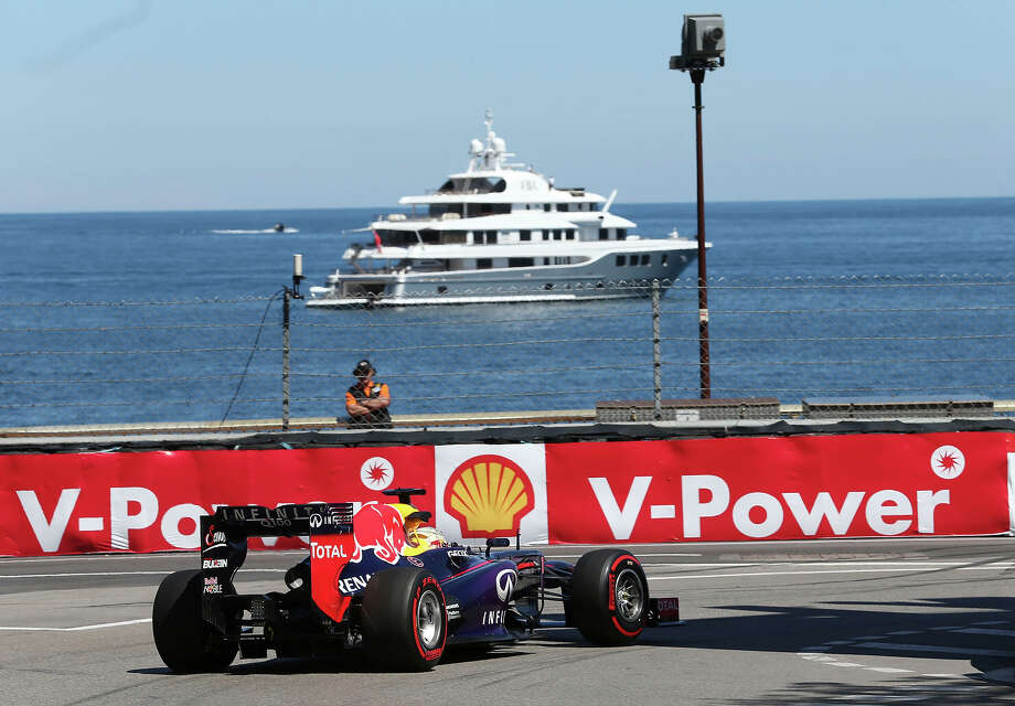 Red Bull driver Sebastian Vettel of Germany steers his car during the second free practice at the Monaco racetrack, in Monaco, Thursday, May 23, 2013. The Formula one race will be held on Sunday. Photo: Luca Bruno, ASSOCIATED PRESS / AP2013