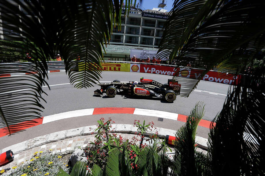 Lotus driver Roman Grosjean of France steers his car during the second free practice at the Monaco racetrack, in Monaco, Thursday, May 23, 2013. The Formula one race will be held on Sunday. Photo: Luca Bruno, AP / AP