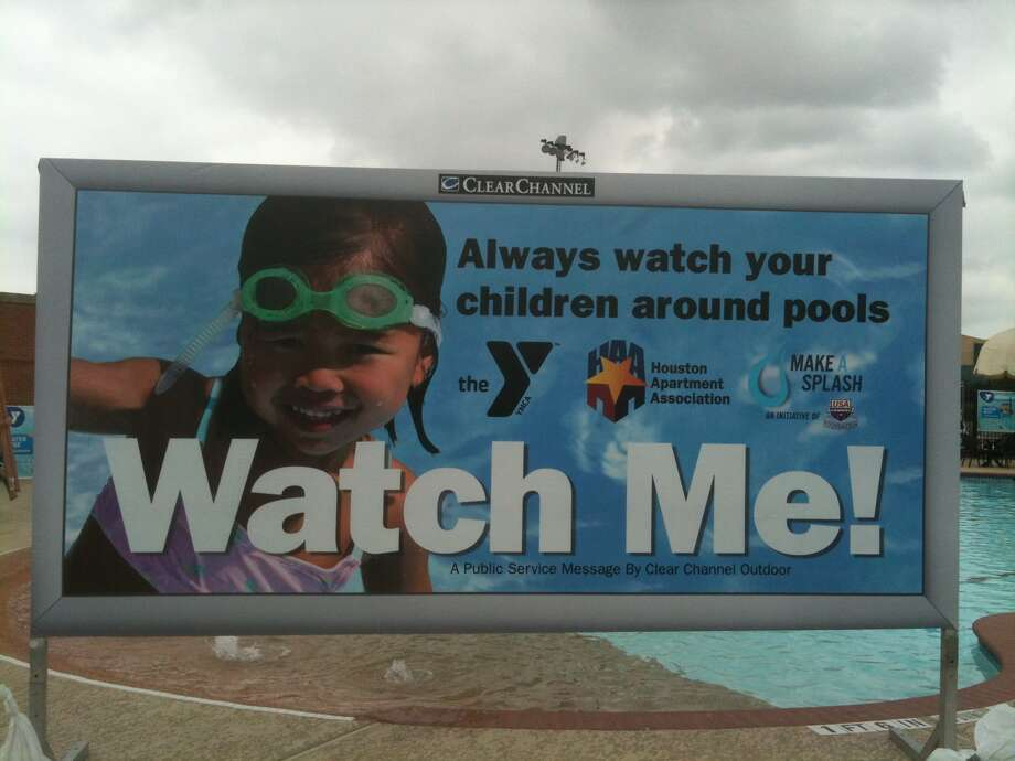 New billboard encourages summer swimming safety for children. Photo: Robert Stanton