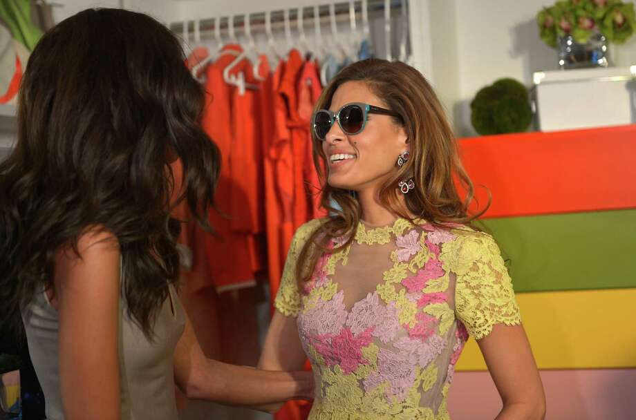 Eva Mendes, pictured on right on March 13, 2013 in Beverly Hills, Calif. Photo: Charley Gallay, Getty Images / 2013 Getty Images