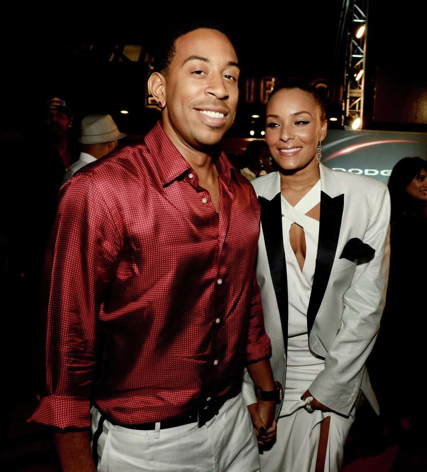 Chris 'Ludacris' Bridges and his girlfriend Eudoxie, pictured May 21, 2013 in Universal City, Calif. Photo: Kevin Winter, Getty / 2013 Getty Images