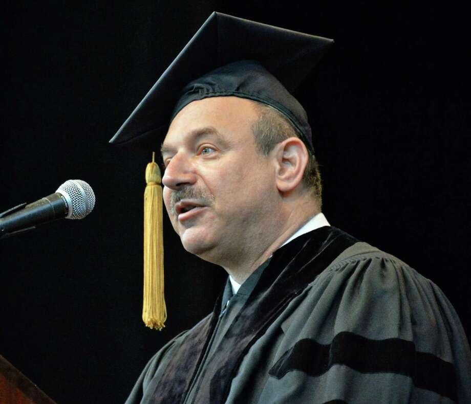 Dr. Bruce Beutler, a Nobel laureate credited with groundbreaking work on understanding the body?s immune system, delivers the keynote address at Albany Medical College commencement at the Saratoga Performing Arts Center in Saratoga Springs, NY, Thursday May 23, 2013.  (John Carl D'Annibale / Times Union) Photo: John Carl D'Annibale / 10022119A