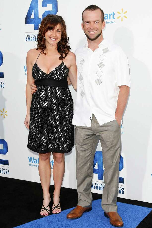 Lucas Black and his wife, pictured April 9, 2013 in Hollywood, Calif. Photo: Imeh Akpanudosen, Getty / 2013 Getty Images