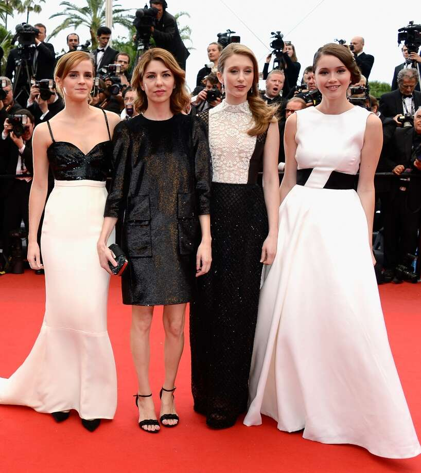 Actress Emma Watson, director Sofia Coppola and actresses Taissa Fariga and Katie Chang at 'The Bling Ring' premiere during this year's Cannes Film Festival, wearing nothing but black and white.