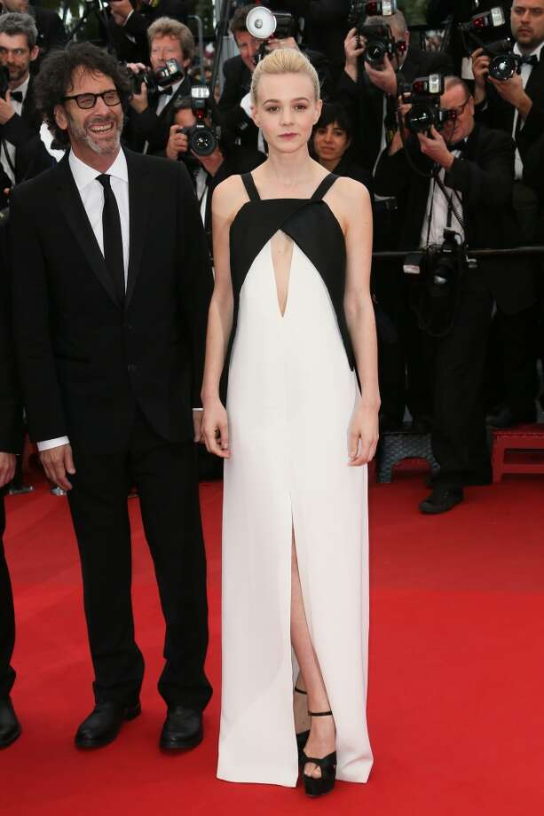 Joel Coen and Carey Mulligan attend the Premiere of 'Inside Llewyn Davis' in Cannes.