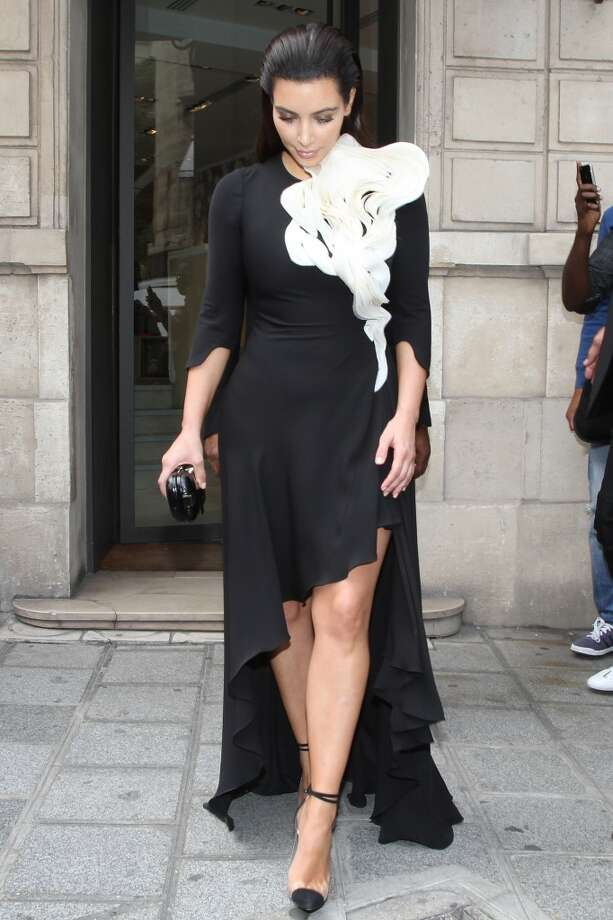 Kim Kardashian had a thing for black and white when packing for this trip to Paris in July  2012.