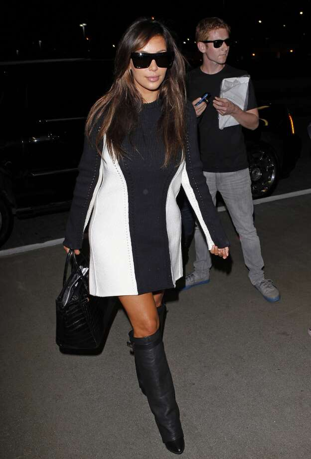 Kim Kardashian is at LAX Airport on September 11, 2012.