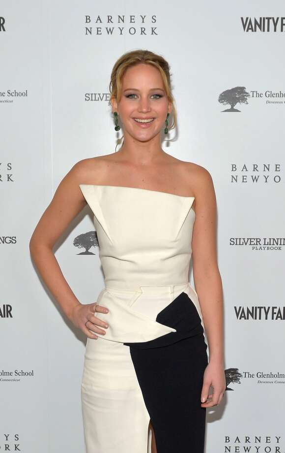 "Actress Jennifer Lawrence attends the Vanity Fair, Barneys New York and The Weinstein Company celebration of ""Silver Linings Playbook"" on February 20, 2013 in Los Angeles."