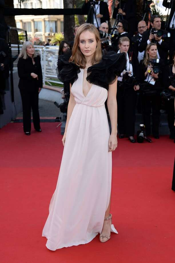 Olga Sorokina at the Premiere of 'Le Passe' (The Past) in Cannes, France.