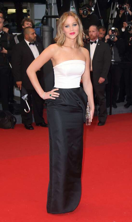 Jennifer Lawrence at the Premiere of 'Jimmy P. (Psychotherapy Of A Plains Indian)' in Cannes.
