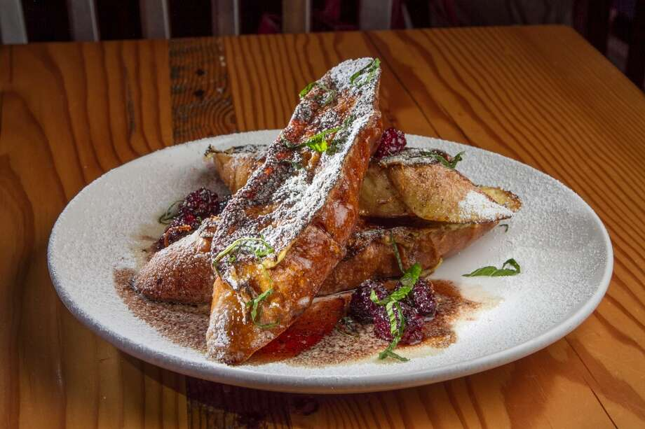 The Pain Perdu French Toast with Blackberries. $10.