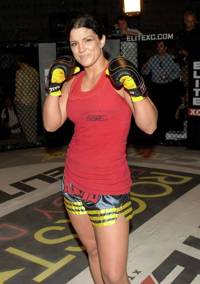 Gina Carano pictured May 19, 2008 in Studio City, Calif. Photo: Stephen Shugerman, Getty Images / 2008 Getty Images