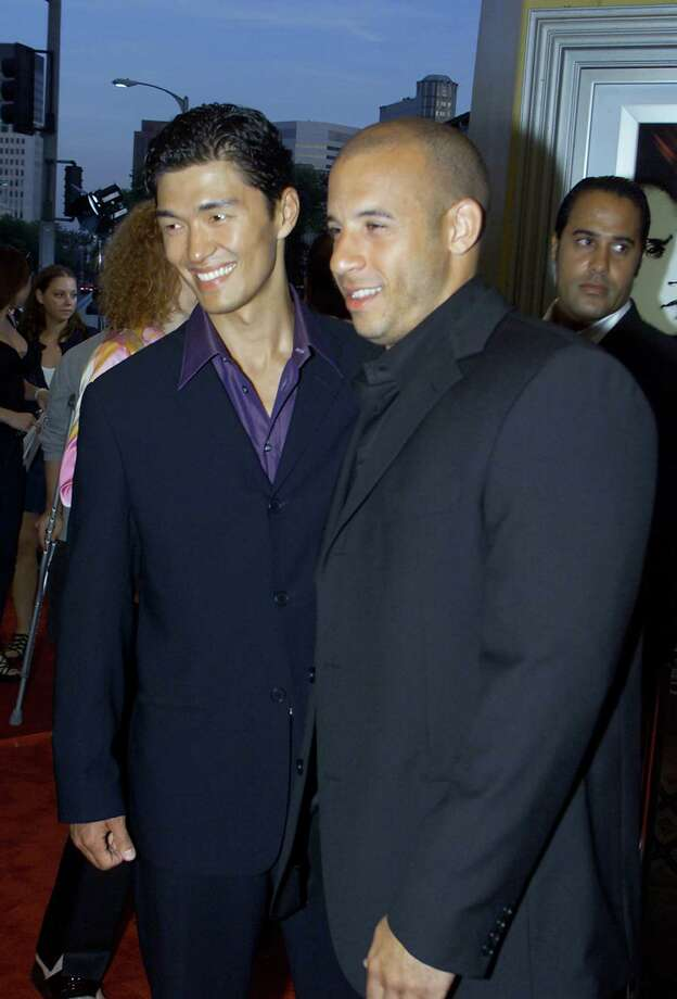 Rick Yune, pictured on left with Vin Deisel on June 18, 2001. Photo: Kevin Winter, Getty Images / Getty Images North America