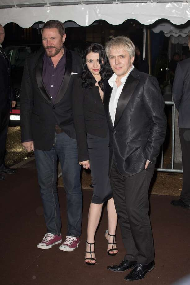 CANNES, FRANCE - MAY 22:  Simon Le Bon, Nefer Suvio and Nick Rhodeso attend the 'Roberto Cavalli Yacht  Party' in the Cannes harbour during the 66th Annual Cannes Film Festival on May 22, 2013 in Cannes, France.  (Photo by Marc Piasecki/FilmMagic)