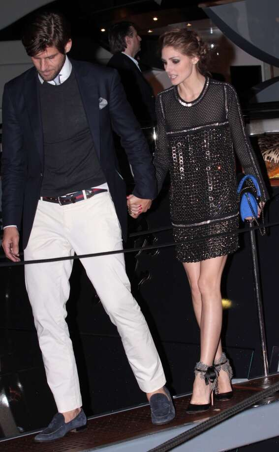 CANNES, FRANCE - MAY 22: Johannes Huebl and Olivia Palermo attending the Roberto Cavalli the Yacht Party during The 66th Annual Cannes Film Festival on May 22, 2013 in Cannes, France. (Photo by Mark Robert Milan/FilmMagic)