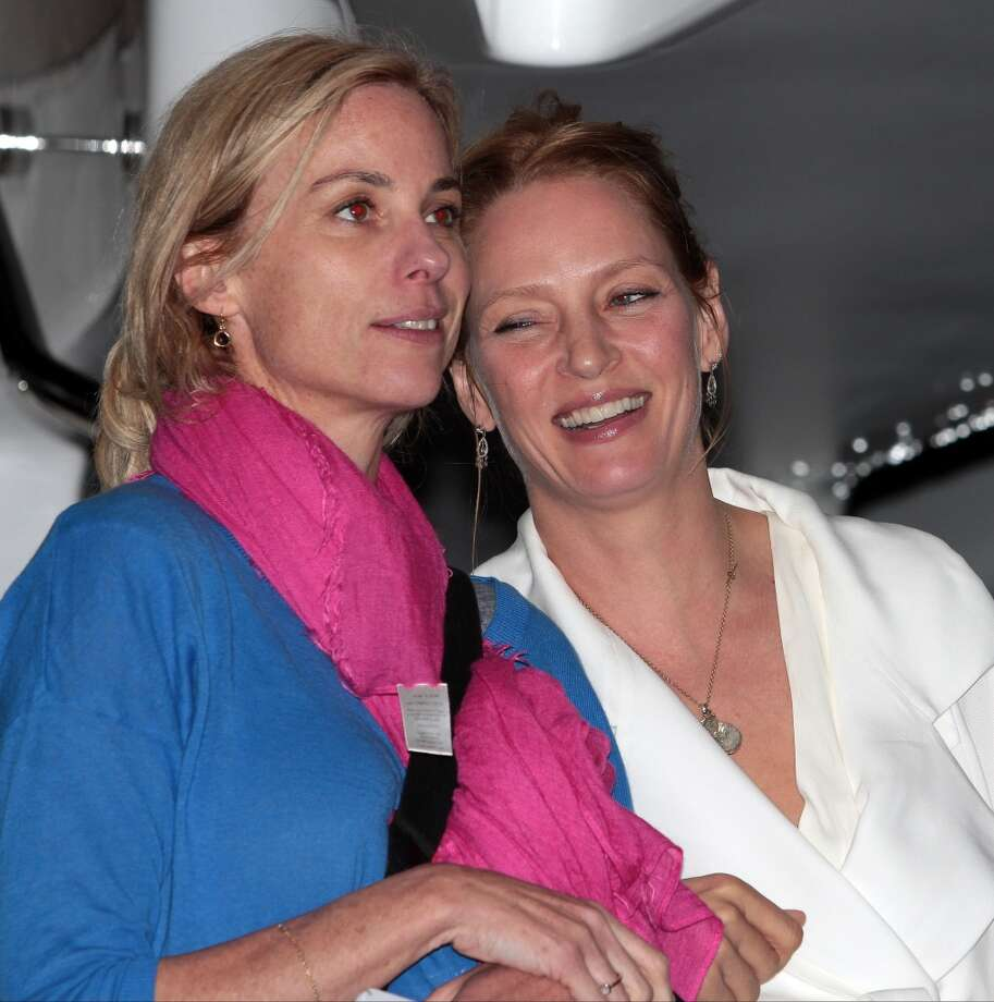 CANNES, FRANCE - MAY 22: Uma Thurman attending the Roberto Cavalli the Yacht Party during The 66th Annual Cannes Film Festival on May 22, 2013 in Cannes, France. (Photo by Mark Robert Milan/FilmMagic)