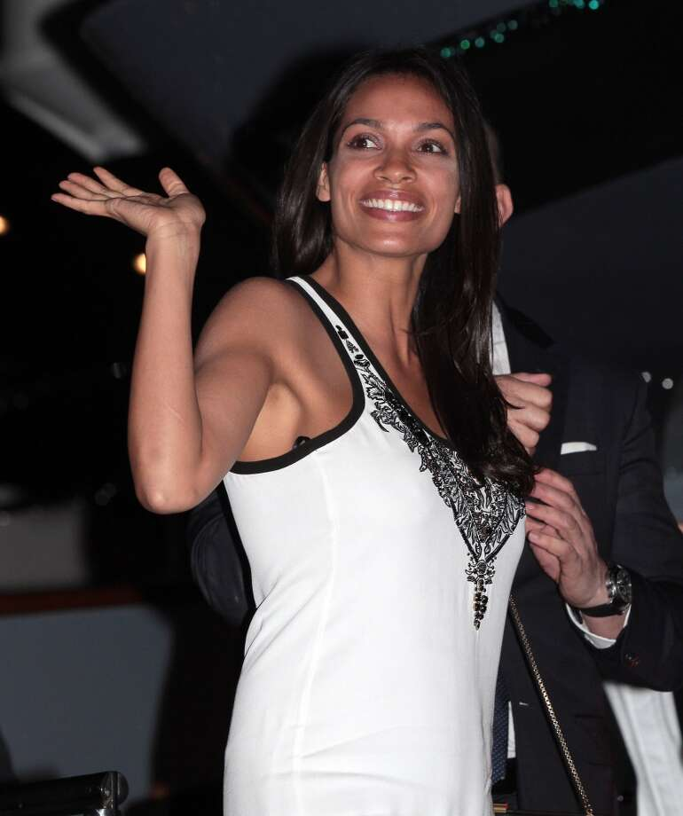 CANNES, FRANCE - MAY 22: Rosario Dawson attending the Roberto Cavalli the Yacht Party during The 66th Annual Cannes Film Festival on May 22, 2013 in Cannes, France. (Photo by Mark Robert Milan/FilmMagic)