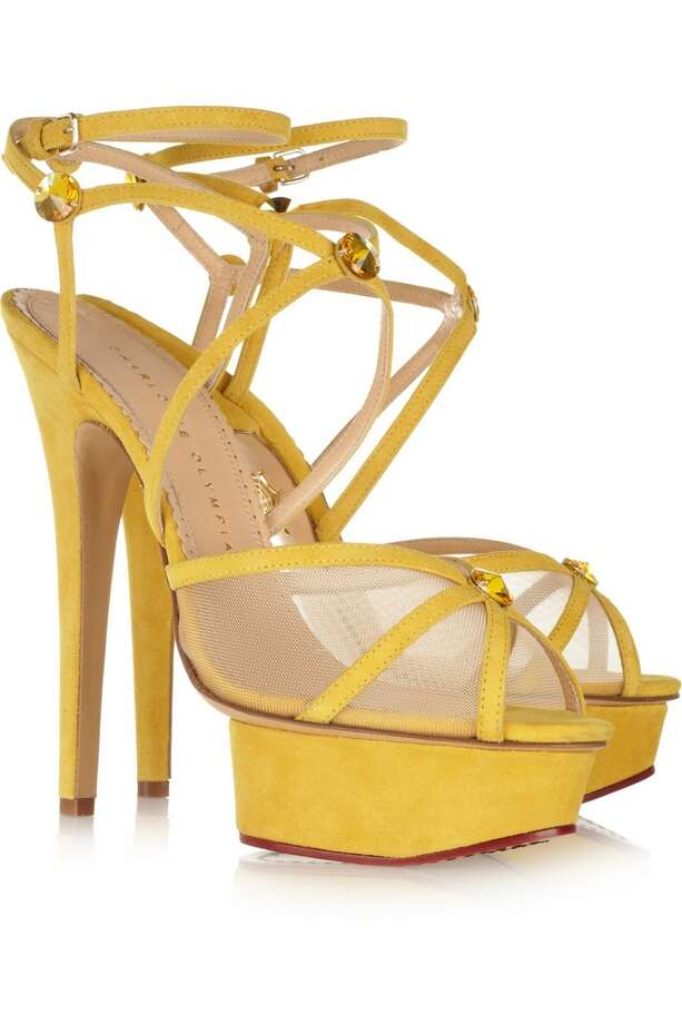 Isadora suede and mesh sandals