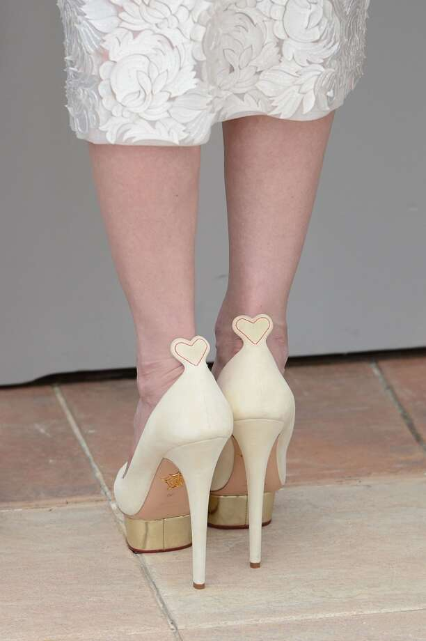 Kirsten Dunst's ladylike Charlotte Olympia stilettos. Dellal is often inspired by old Hollywood glamour.