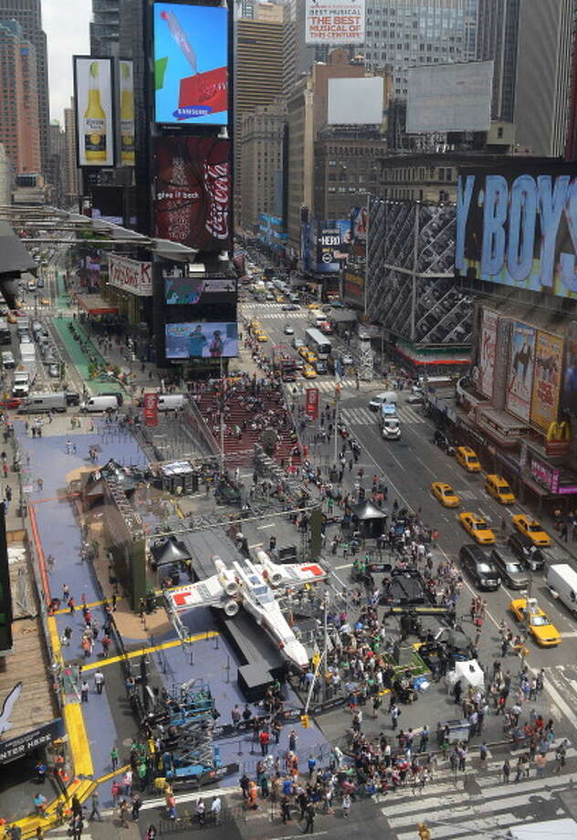 The world's largest Lego model is on display at Times Square in New York, May 23, 2013. The model was transported to the United States from the Lego Model Shop in Kladno, Czech Republic, where it was constructed by a team of 32 builders. Photo: EMMANUEL DUNAND, AFP/Getty Images / 2013 AFP