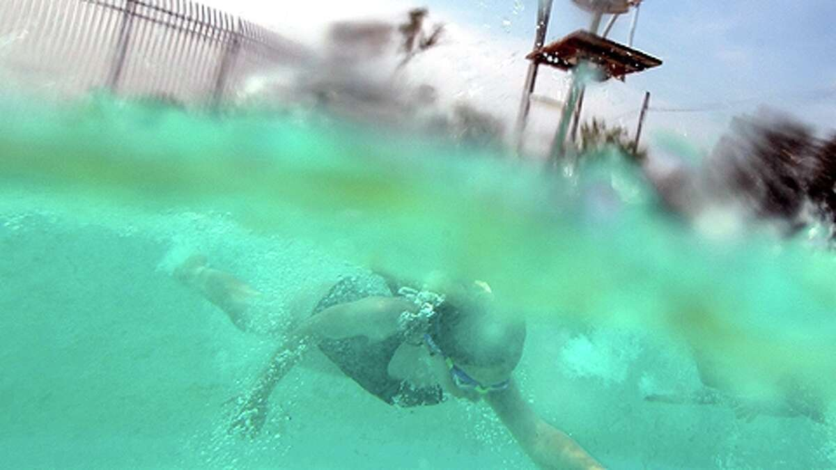 Urinating in a swimming pool It might feel warm, but researchers say it could lead to serious health consequences for you and others. Researchers say mixing urine and chlorine causes cyanogen chloride. That's a gas that can be dangerous to the central nervous system, heart and lungs if breathed in.