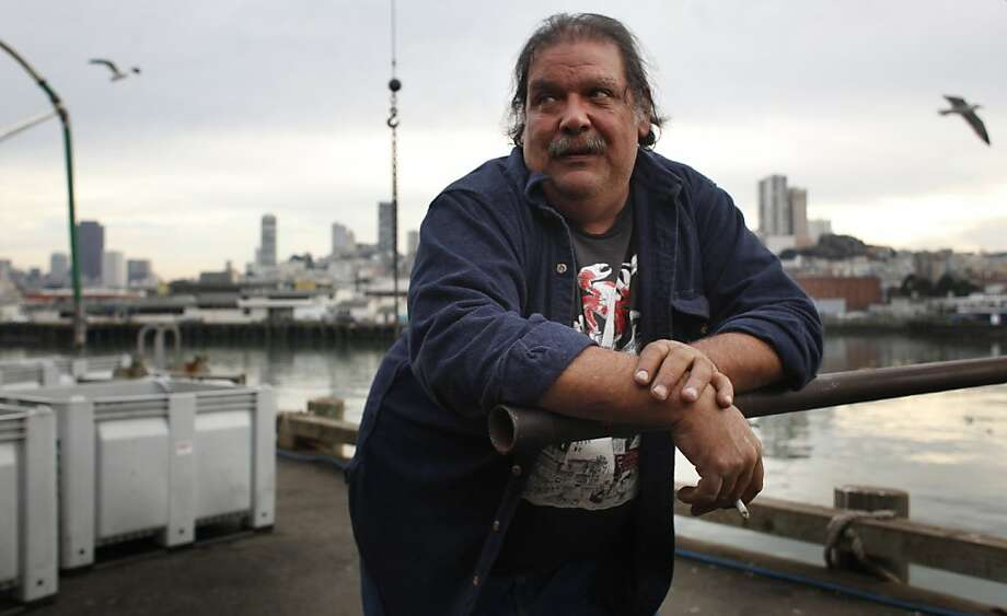 Larry Collins is president of the fishermen's co-op called the San Francisco Community Fishing Association,  a group that buys and sells its own fish. Photo: Mike Kepka, The Chronicle