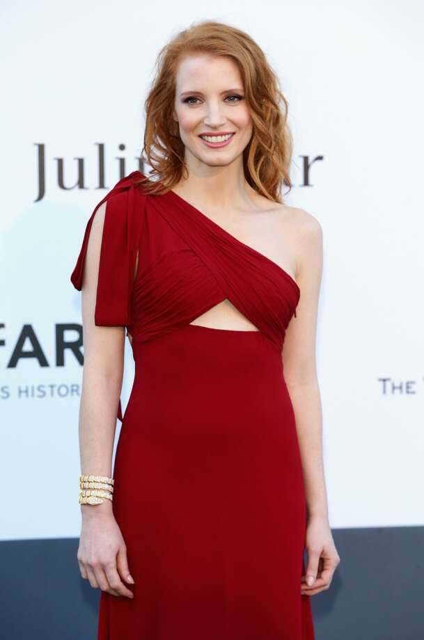 CAP D'ANTIBES, FRANCE - MAY 23:  Actress Jessica Chastain attends amfAR's 20th Annual Cinema Against AIDS during The 66th Annual Cannes Film Festival at Hotel du Cap-Eden-Roc on May 23, 2013 in Cap d'Antibes, France.  (Photo by Vittorio Zunino Celotto/French Select via Getty Images)
