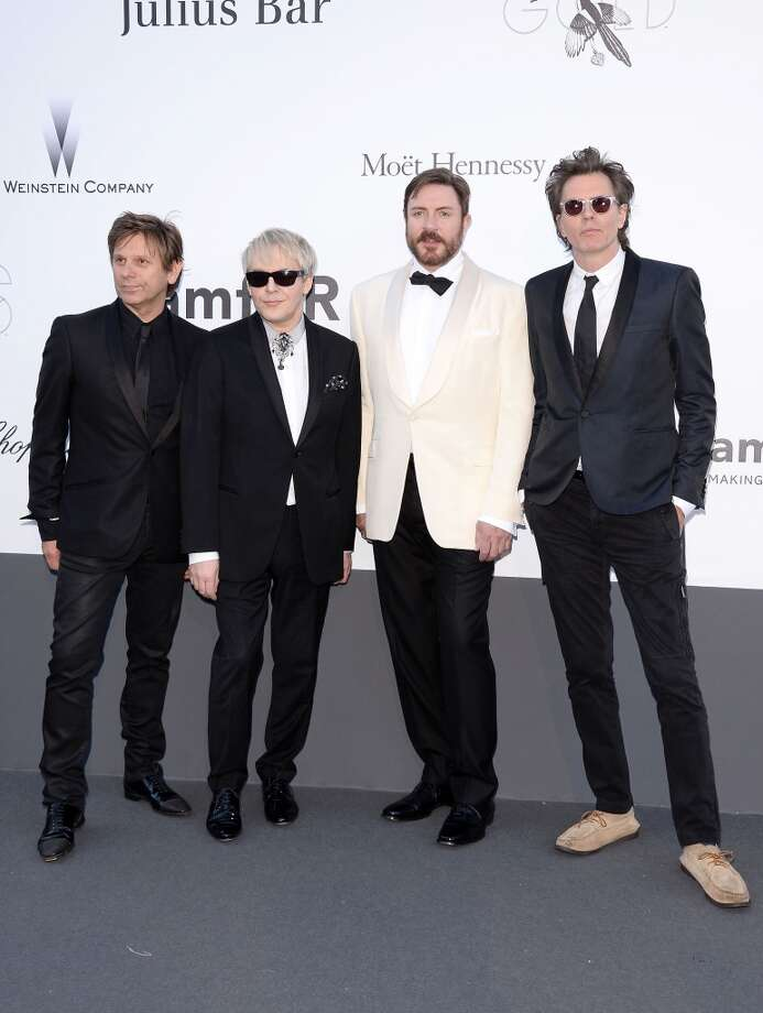 CAP D'ANTIBES, FRANCE - MAY 23: (L-R) Roger Taylor, Nick Rhodes, Simon Le Bon and John Taylor of Duran Duran attends amfAR's 20th Annual Cinema Against AIDS during The 66th Annual Cannes Film Festival at Hotel du Cap-Eden-Roc on May 23, 2013 in Cap d'Antibes, France.  (Photo by Venturelli/WireImage)
