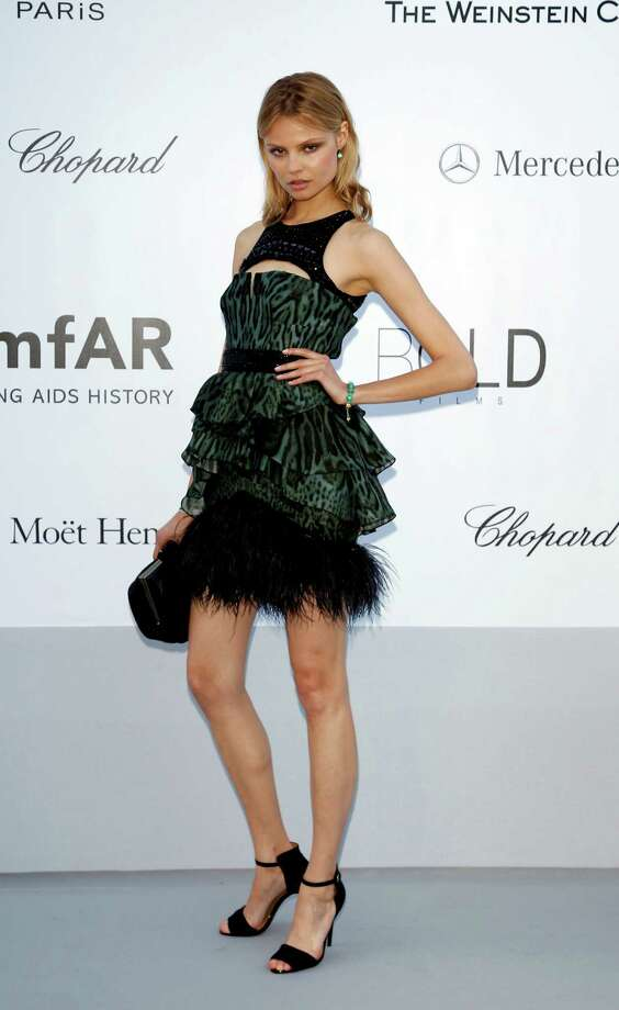 CAP D'ANTIBES, FRANCE - MAY 24:  Model Magdalena Frackowiak arrives at the 2012 amfAR's Cinema Against AIDS during the 65th Annual Cannes Film Festival at Hotel Du Cap on May 24, 2012 in Cap D'Antibes, France. Photo: Andreas Rentz, Getty Images / 2012 Getty Images