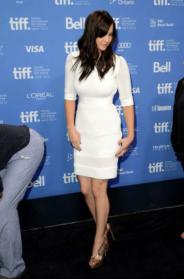 "In Antonio Berardi at the ""Silver Linings Playbook"" photocall during the 2012 Toronto International Film Festival on Sept. 9, 2012 in Toronto. Photo: Jason Merritt, Getty Images / 2012 Getty Images"