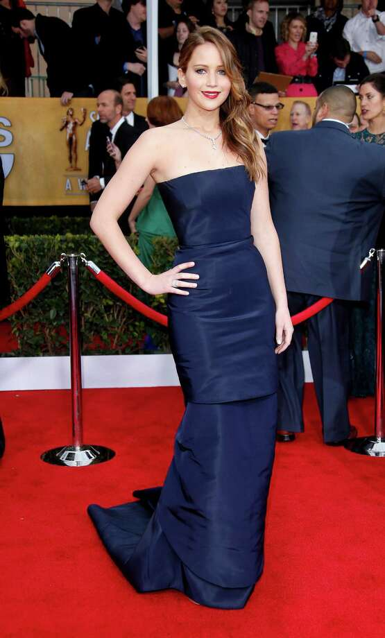 At the 19th annual Screen Actors Guild Awards on Jan. 27, 2013 in Los Angeles, again wearing Christian Dior couture. Photo: Dan MacMedan, WireImage / 2013 Dan MacMedan