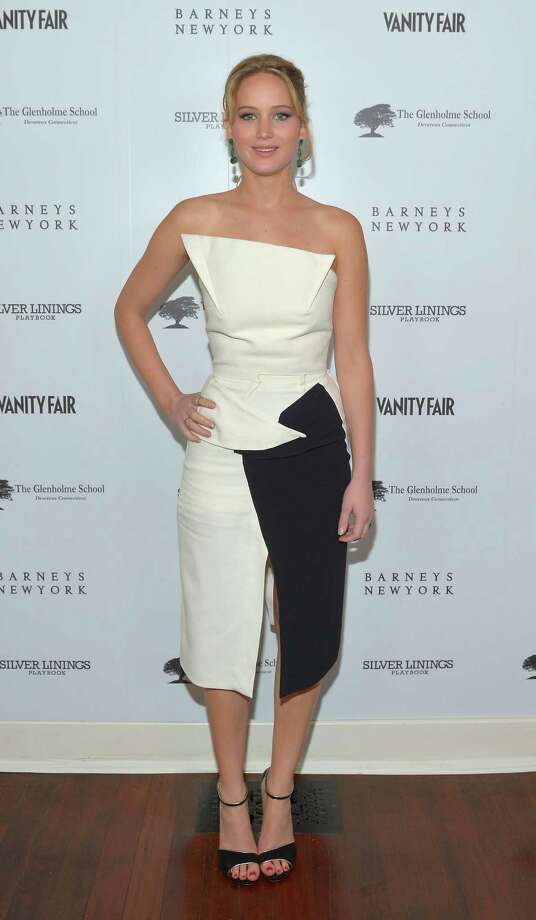 "At the Vanity Fair, Barneys New York and The Weinstein Company celebration of ""Silver Linings Playbook"" in support of The Glenholme School on Feb. 20, 2013 in Los Angeles, wearing Roland Mouret. Photo: Charley Gallay, Getty Images For VF / 2013 Getty Images"