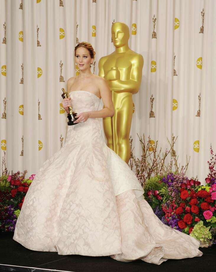 In Christian Dior couture, of course, in the press room during the 85th annual Academy Awards on Feb. 24, 2013 in Hollywood, Calif. This is what you wear when you just know you're going to win. Photo: Jeffrey Mayer, WireImage / 2013 Jeffrey Mayer
