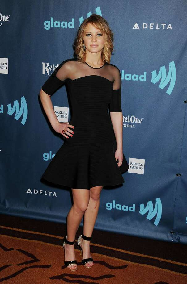 At the 24th annual GLAAD Media Awards on April 20, 2013 in Los Angeles, wearing David Koma. Photo: Jeffrey Mayer, WireImage / 2013 Jeffrey Mayer