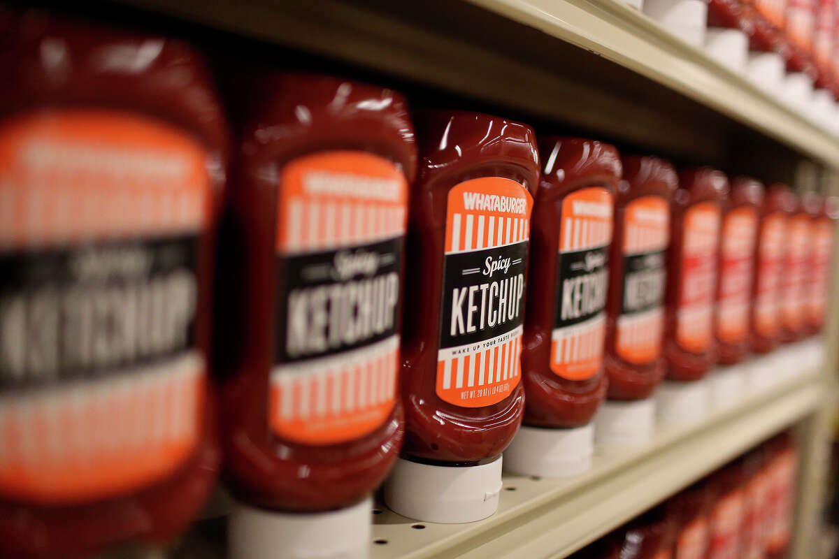 Whataburger (Spicy) Ketchup Ketchup is probably in every home in America and in San Antonio it's Whataburger ketchup. It's OK to admit that your Whataburger love has become a permanent part of your life in the form of a ketchup bottle in your fridge door.