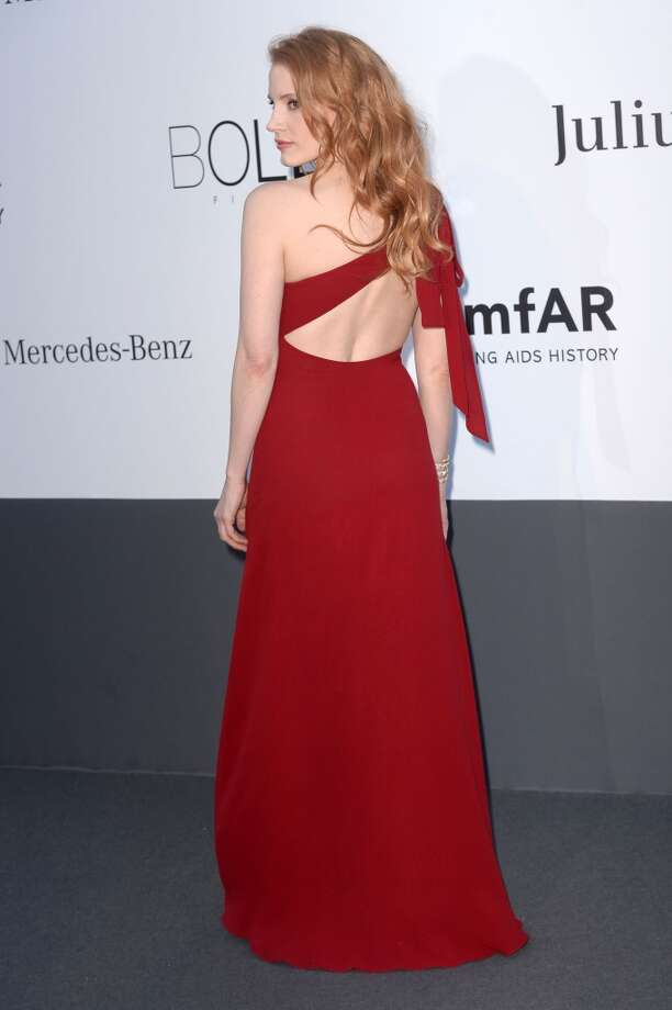 CAP D'ANTIBES, FRANCE - MAY 23:  Jessica Chastain attends amfAR's 20th Annual Cinema Against AIDS during The 66th Annual Cannes Film Festival at Hotel du Cap-Eden-Roc on May 23, 2013 in Cap d'Antibes, France.  (Photo by Samir Hussein/French Select via Getty Images)