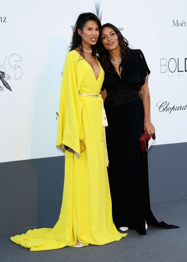 CAP D'ANTIBES, FRANCE - MAY 23:  Goga Ashkenazi and Rosario Dawson attend amfAR's 20th Annual Cinema Against AIDS during The 66th Annual Cannes Film Festival at Hotel du Cap-Eden-Roc on May 23, 2013 in Cap d'Antibes, France.  (Photo by Vittorio Zunino Celotto/French Select via Getty Images)