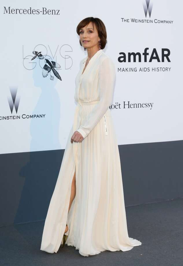 CAP D'ANTIBES, FRANCE - MAY 23:  Actress Kristin Scott Thomas attends amfAR's 20th Annual Cinema Against AIDS during The 66th Annual Cannes Film Festival at Hotel du Cap-Eden-Roc on May 23, 2013 in Cap d'Antibes, France.  (Photo by Vittorio Zunino Celotto/French Select via Getty Images)