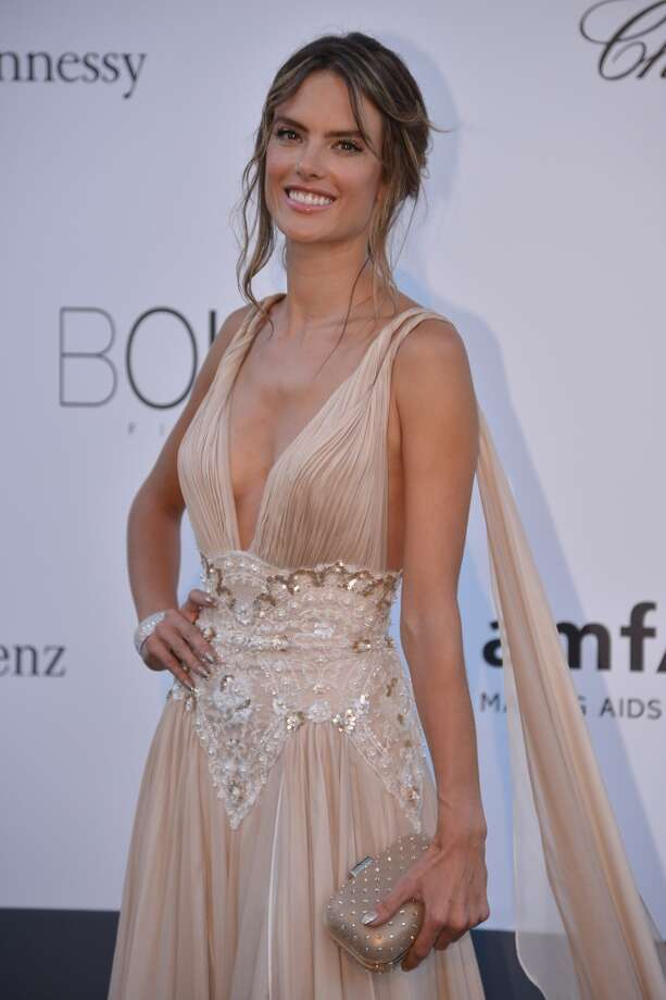 Brazilian model Alessandra Ambrosio poses on May 23, 2013 as she arrives for the amfAR's 20th Annual Cinema Against AIDS during the 66th Annual Cannes Film Festival at Hotel du Cap-Eden-Roc in Cap d'Antibes, southern France.   AFP PHOTO / ALBERTO PIZZOLIALBERTO PIZZOLI/AFP/Getty Images