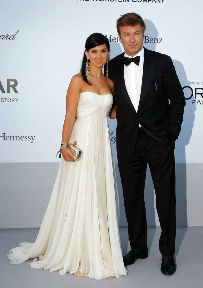 CAP D'ANTIBES, FRANCE - MAY 24:  (L-R) Hilaria Thomas and actor Alec Baldwin arrive at the 2012 amfAR's Cinema Against AIDS during the 65th Annual Cannes Film Festival at Hotel Du Cap on May 24, 2012 in Cap D'Antibes, France. Photo: Andreas Rentz, Getty Images / 2012 Getty Images