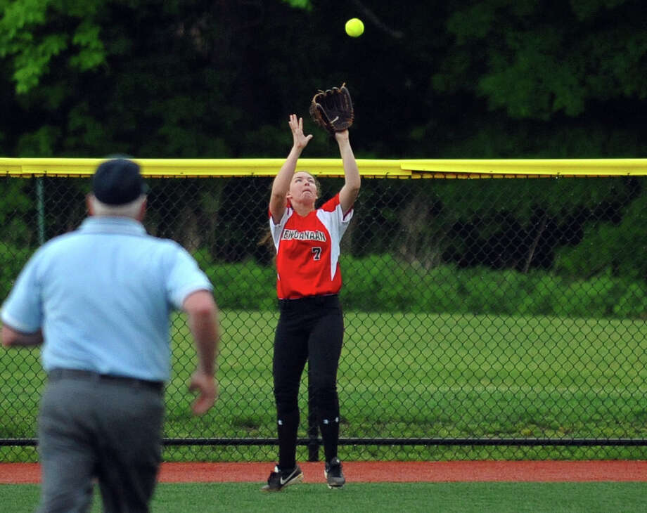 FCIAC Softball Championship action between St. Joseph and New Canaan at Sacred Heart University in Fairfield, Conn. on Thursday May 23, 2013. Photo: Christian Abraham / Connecticut Post