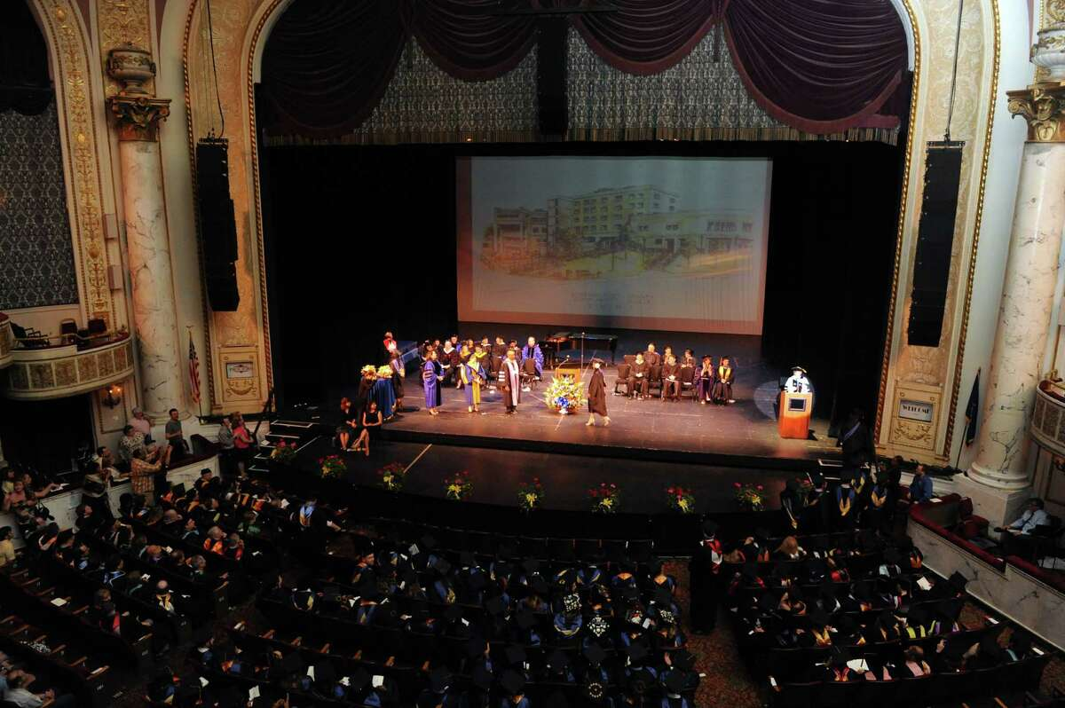 Graduates receive degress during Schenectady County Community College's Forty-Third graduation commencement at Proctors on Thursday May 23, 2013 in Schenectady, N.Y. (Michael P. Farrell/Times Union)