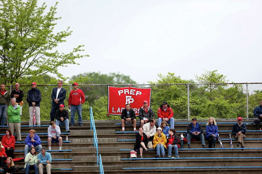 Mike Ross Connecticut Post freelance -Fairfield Prep supports watch Thursday evening match up against Guilford High School in West Haven. Photo: Mike Ross / Mike Ross Connecticut Post freelance
