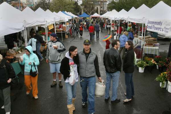 What Seattle's farmers markets look like. (Tents at University District Farmers Market).